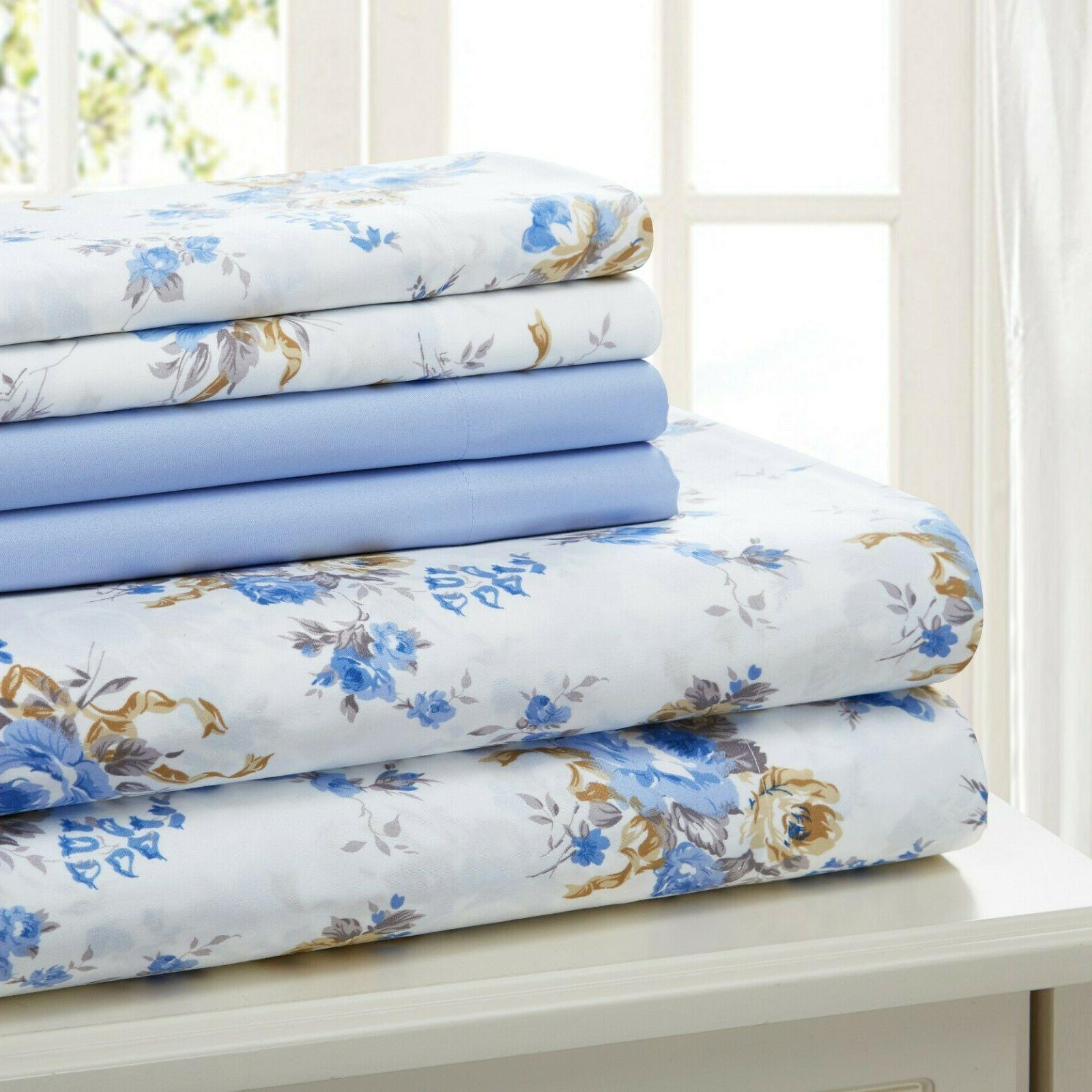 COTTON PERCALE 6 SHEET SET TWIN FULL KING FREE CLOTH