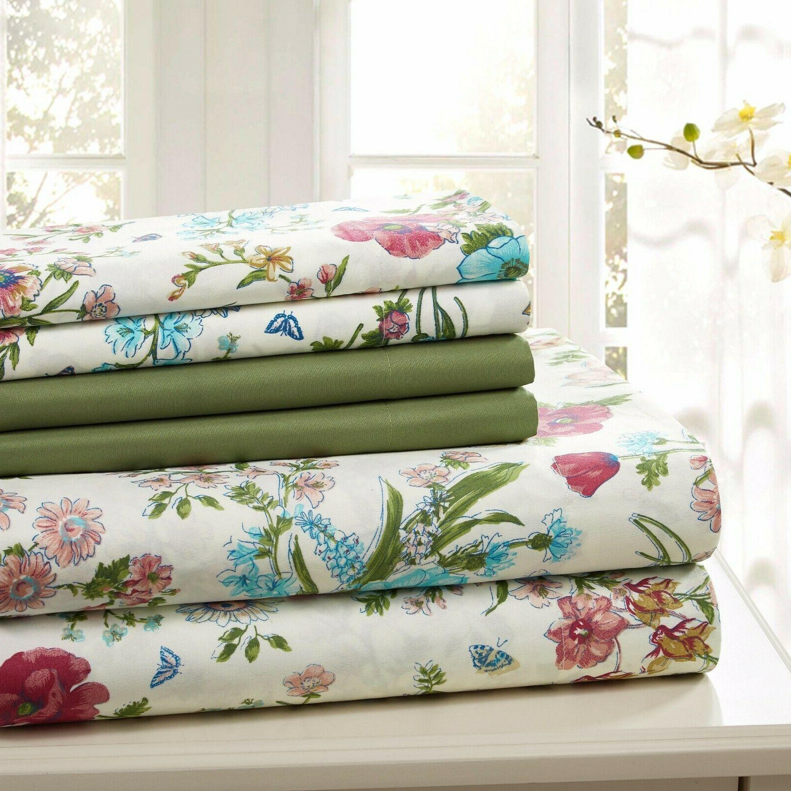 COTTON SHEET PRINTED TWIN KING FREE CLOTH