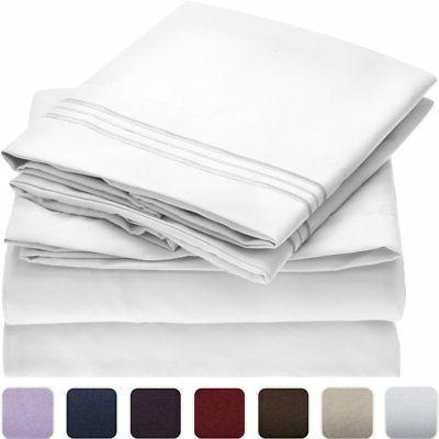 Mellanni Bed Sheet Set - Microfiber Bedding - Stain - -