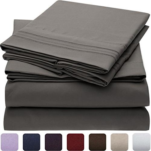 Mellanni Bedding Wrinkle, Stain Resistant - 4 Piece