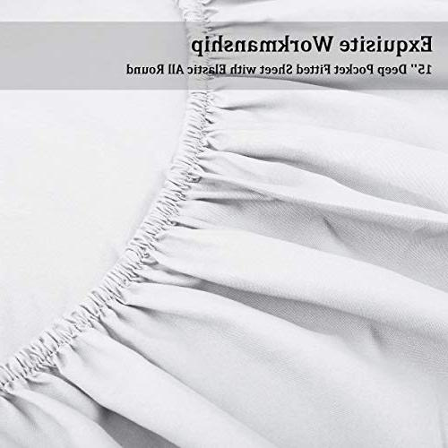 HOMEIDEAS Bed Soft Bedding Sheets - Wrinkle & Fade Resistant 4 Piece