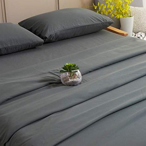 Sonoro Kate Bed Set 1800 Thread Count Egyptian 16-Inch Pocket Wrinkle Piece