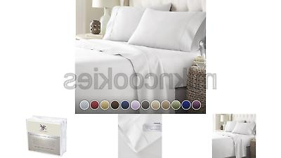bed sheets set hotel luxury 1800 series