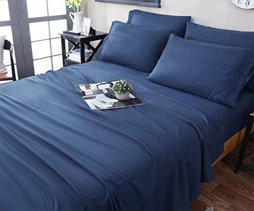 Bed Sheets Microfiber 1800 Count Luxury Deep Wrinkle and Hypoallergenic-6 - Sonoro Kate