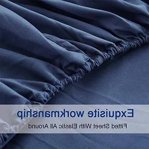 Bed Microfiber 1800 Count Luxury Egyptian Sheets Deep Hypoallergenic-6 Kate