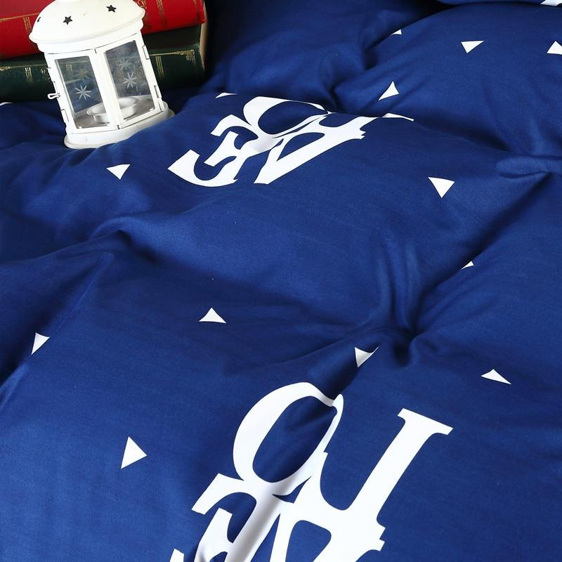 Blue Color Bedding 3 pcs Bed <font><b>Queen</b></font> Flat