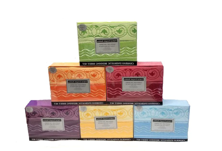 Chakra Energetic 6 Piece Sheet Set Bedding 1200 Series Cotto