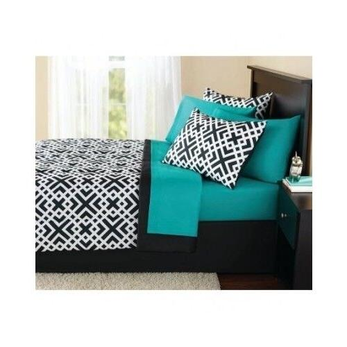 New Full Size Comforter Set Teal Sheets Pillow Shams Bedspre