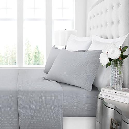 Egyptian Hotel Bed Set Deep Wrinkle Fade and Queen Light