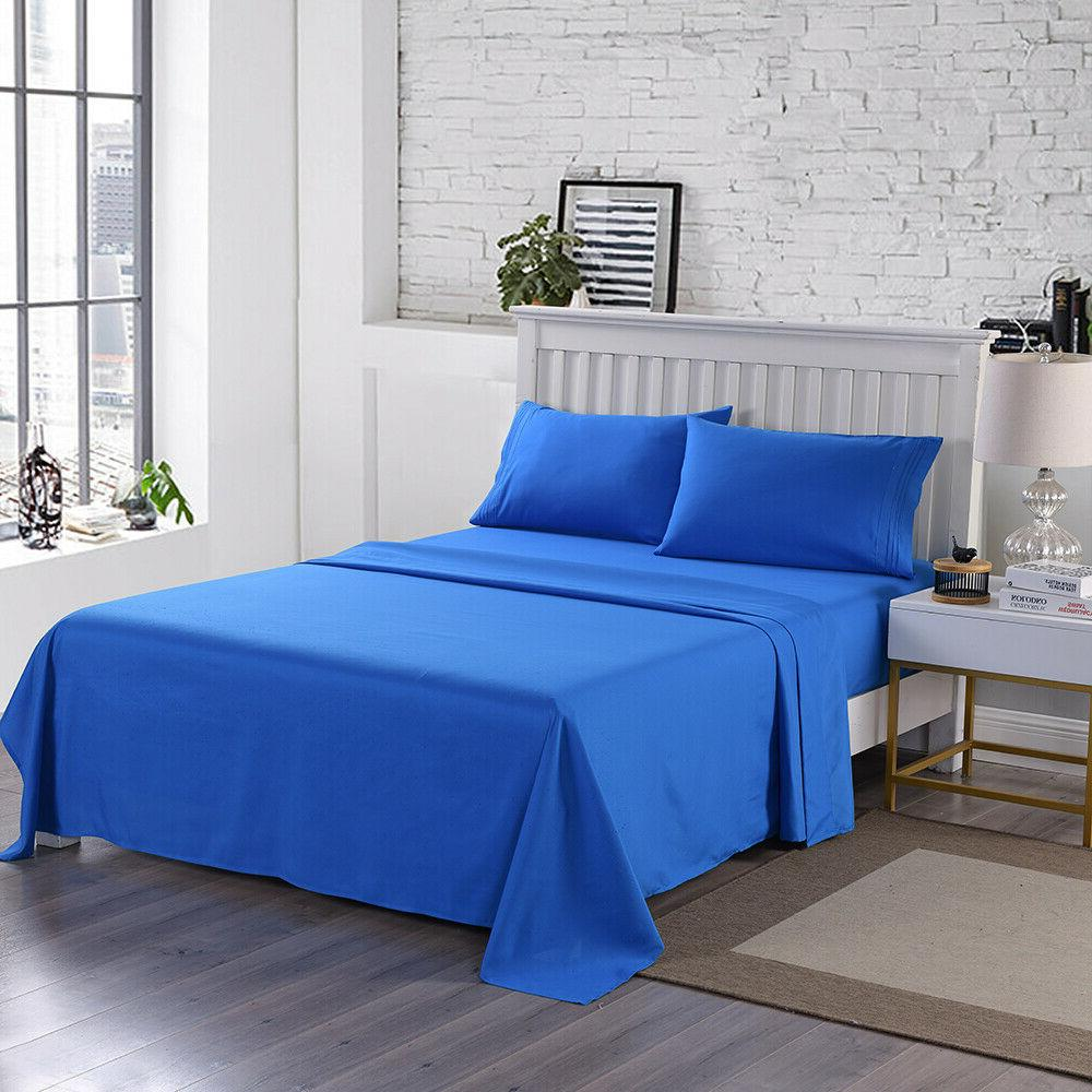 Egyptian Queen King Soft Microfiber Bed Sheets