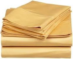 egyptian cotton bedding gold solid