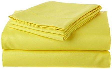 egyptian cotton bedding yellow solid