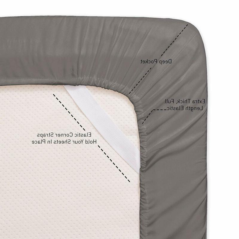 Egyptian Cotton Bed Sheets Deep Fitted 6 Piece!