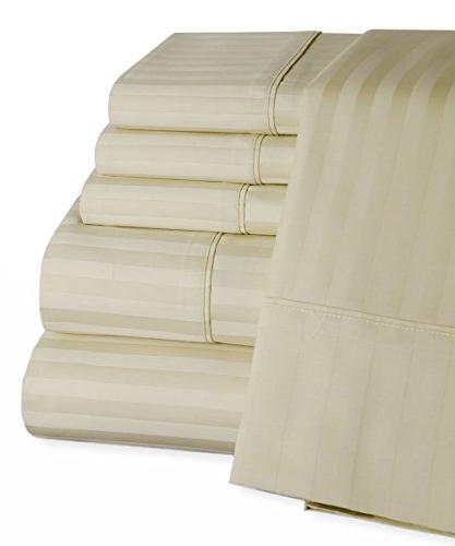 egyptian cotton striped bed sheet