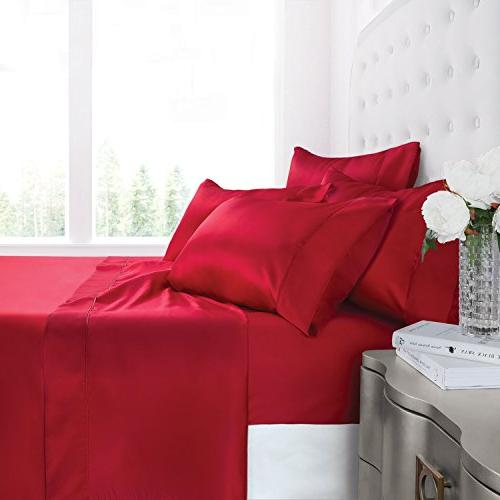 egyptian silky soft satin bed