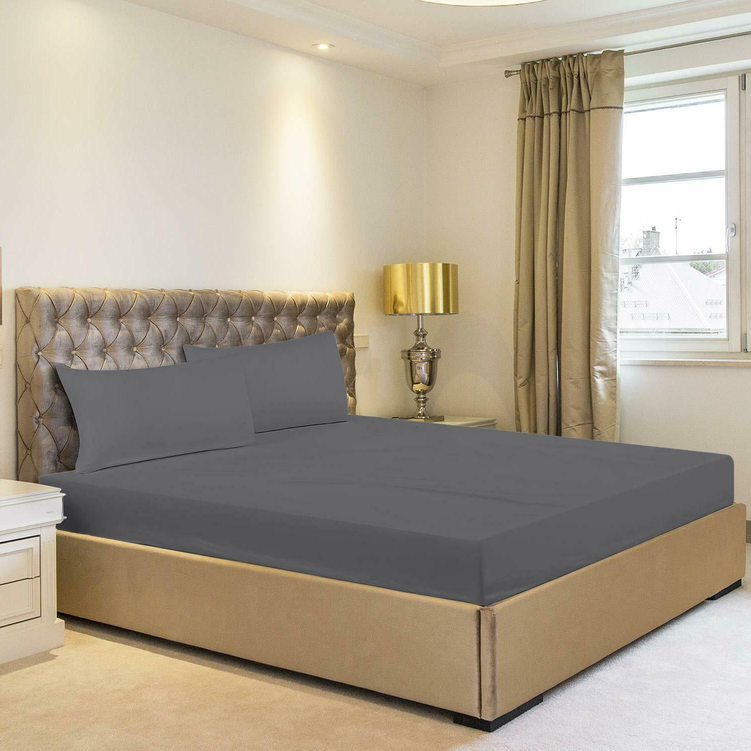 Fitted Sheet Brushed Comfortable Soft By Bedding