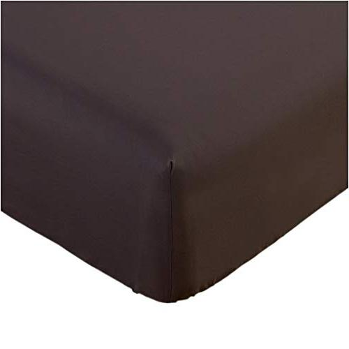 fitted sheet queen brown brushed microfiber 1800