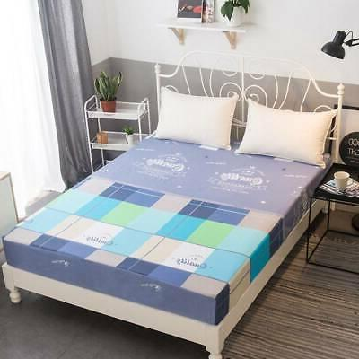 Floral Printed Twin Full Queen King Bed Soft Cover Pad