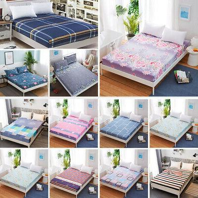 Floral Fitted Sheet Twin Full Queen Bed Cover Pad