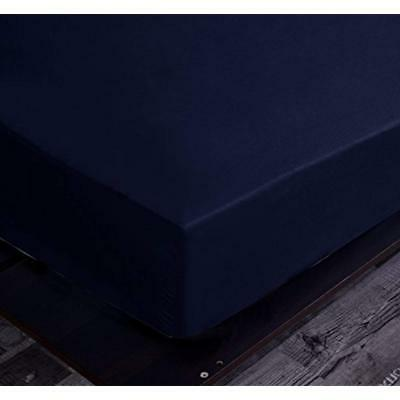 goza bedding microfiber fitted sheet navy queen