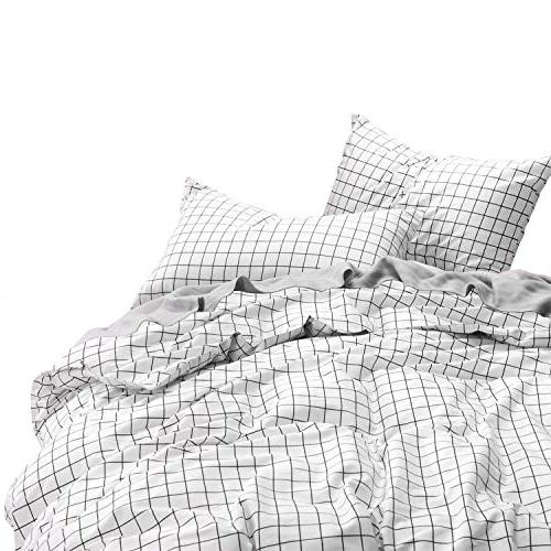 grid duvet cover set