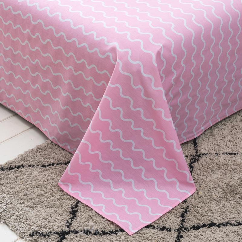 Home Textile plaid series bed printing flat <font><b>sheet</b></font> line twin full queen #/L