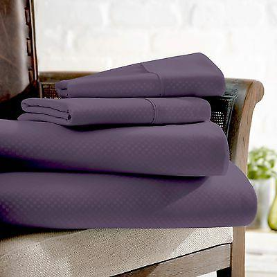Hotel Quality Elegant Checkered Bed Sheet Set by The Home Co