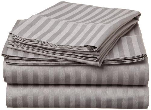 ELAINE KAREN STRIPED 4PC QUEEN GREY