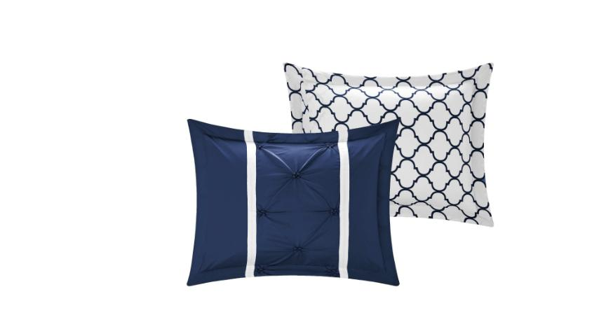 King Comforter Set Bedding Blue Bedspread PC