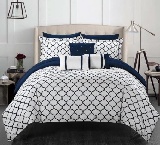 King Comforter Set Bedspread Sheets Reversible PC