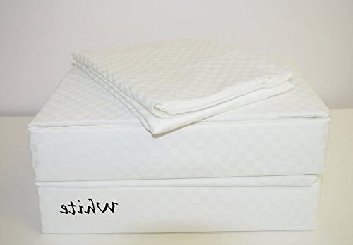 sleep well checkered bed sheets
