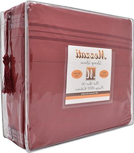 Mezzati Luxury Sheets Set - Best, Ever! 1800 Prestige Collection Brushed