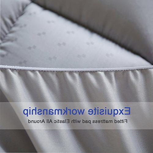 Mattress Pad Cooling Mattress Thick 8-21-Inch Pocket Quilted Pillowtop by