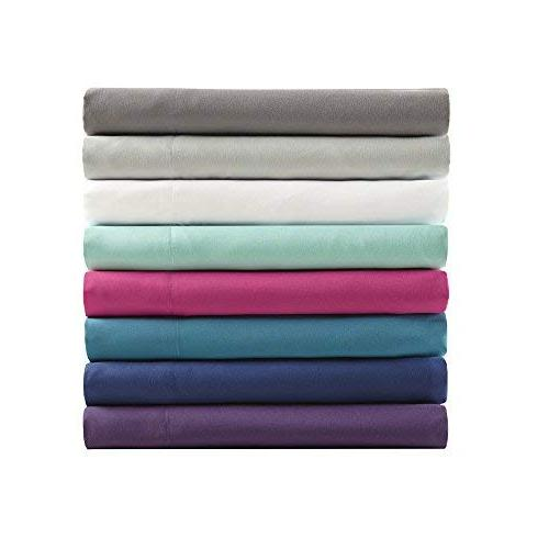 Comfort Spaces Microfiber Set Size - Wrinkle, Stain Resistant - Includes Flat Fitted Sheet Pillow