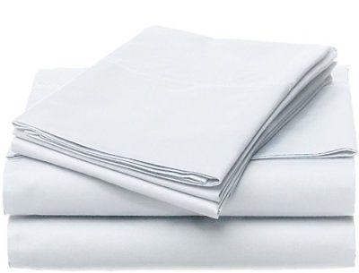 NEW Luxury Home 6-Pc 1600 Series Bed Sheets Set - White - Si