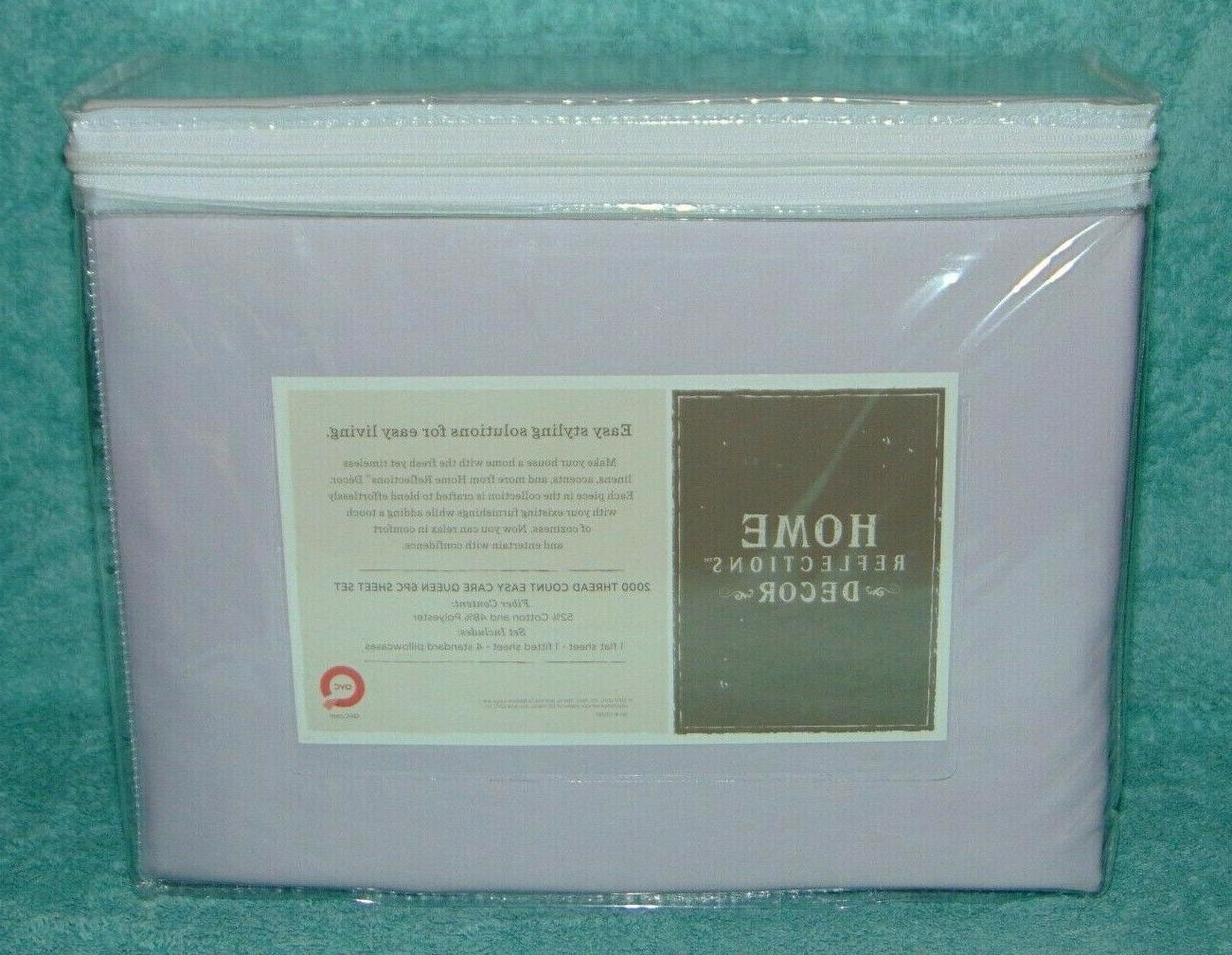New Lavender 6pc 2000 Thread Count Queen Set Home Reflections