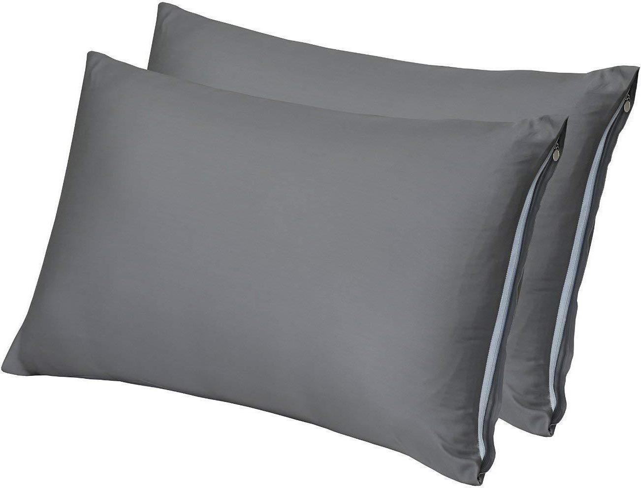 Pillow Cases Zippered Bamboo Sateen Pack of 2 by Utopia Bedd