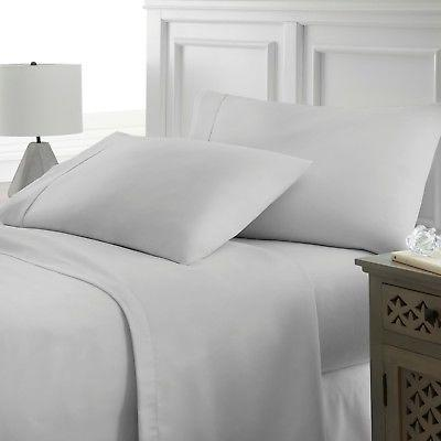 Premium Hotel Quality 4 Piece Deep Pocket Bed Sheet Set by E