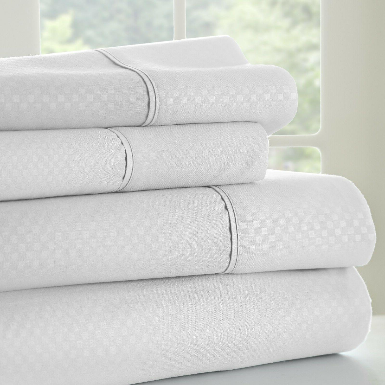 Hotel Collection - Premium Ultra Soft Checkered Bed Sheet Se