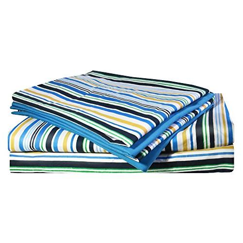 Printed Queen - 6 Piece Sheet 100% Soft Brushed With Deep Sheet, Collection, Hypoallergenic,