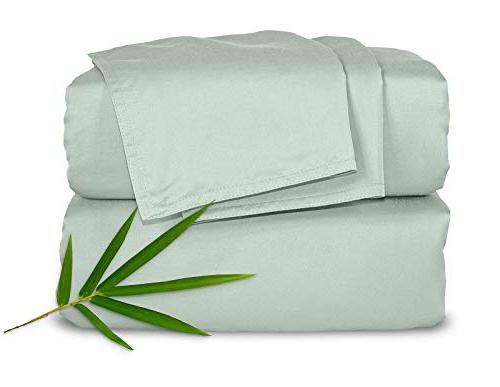 Pure Bamboo 4pc Bed Sheet Set - 100% Luxuriously Soft