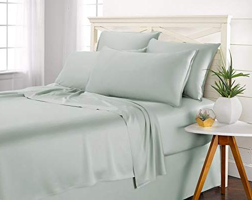 Pure Bamboo Queen 4pc Bed Sheet - Soft Bed Sheets