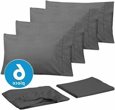 Sweet Home Sheets-6 Piece Count Brushed Microf