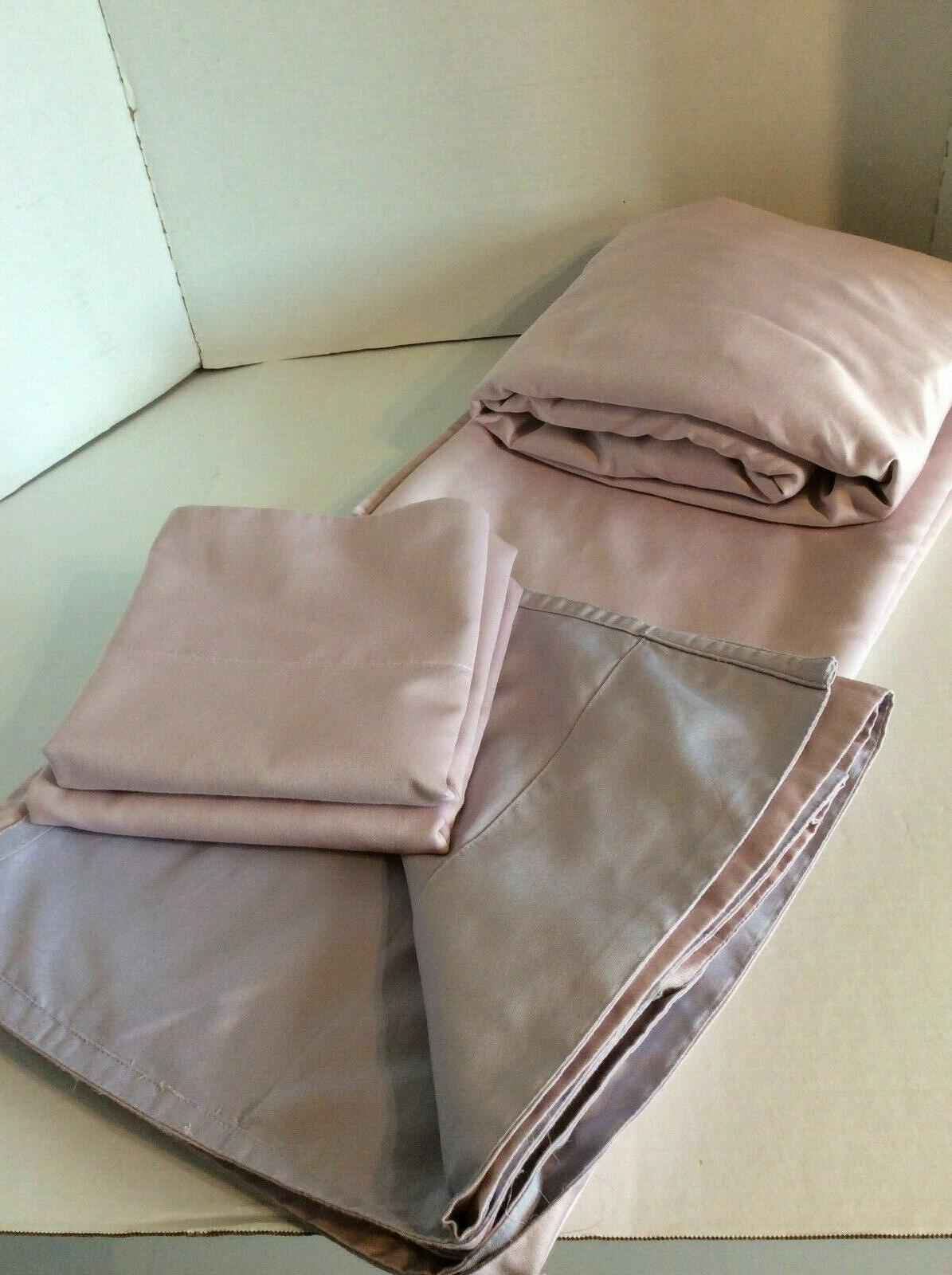 queen sheets 600tc easy care reversible blush
