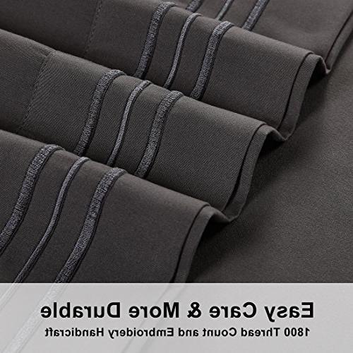 Emonia Queen Sheets ❤️ pieces Bed Sheets-Microfiber Super Soft 1800 Series Pocket Sheets-Wrinkle