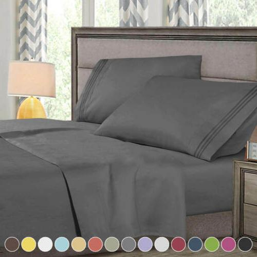 Queen Set Microfiber Bedding Pcs Linens