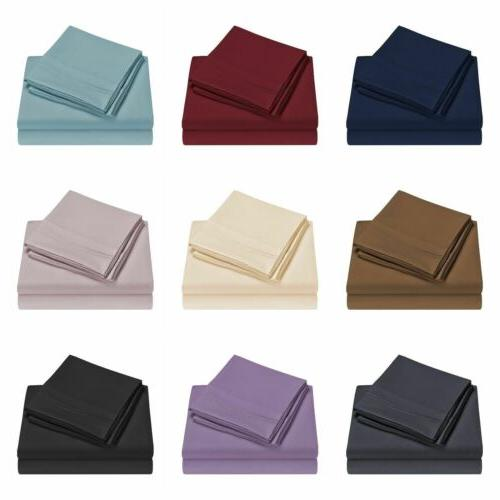 queen size bed sheet set brushed microfiber