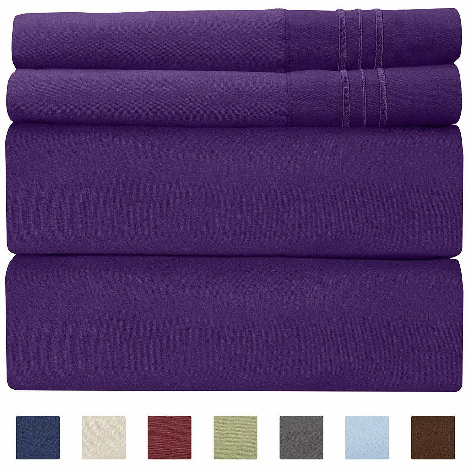 Queen Wrinkle Free Bed Sheets Home 4