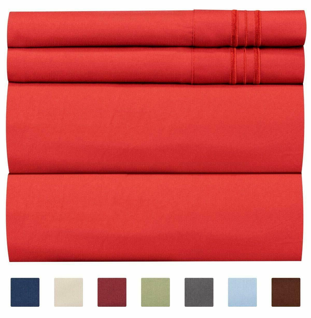 Queen Size Sheet Set Wrinkle Free Luxury Bed Sheets 4