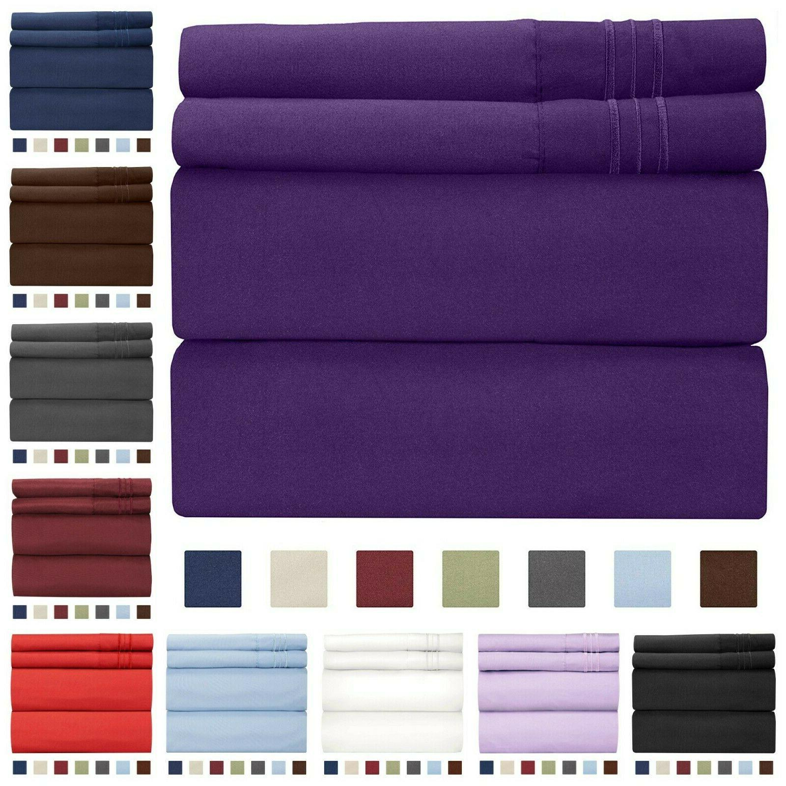 queen size sheet set wrinkle free breathable